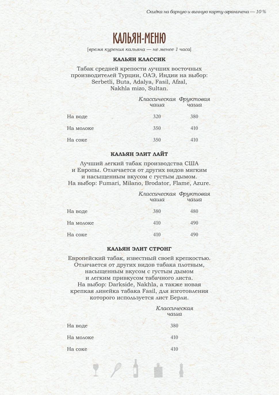 Винная карта ресторана PERETS